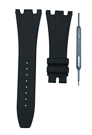 cdcc6d70ee6 Amazon.com  28mm Watch Band Strap Black Diver for AP ROO
