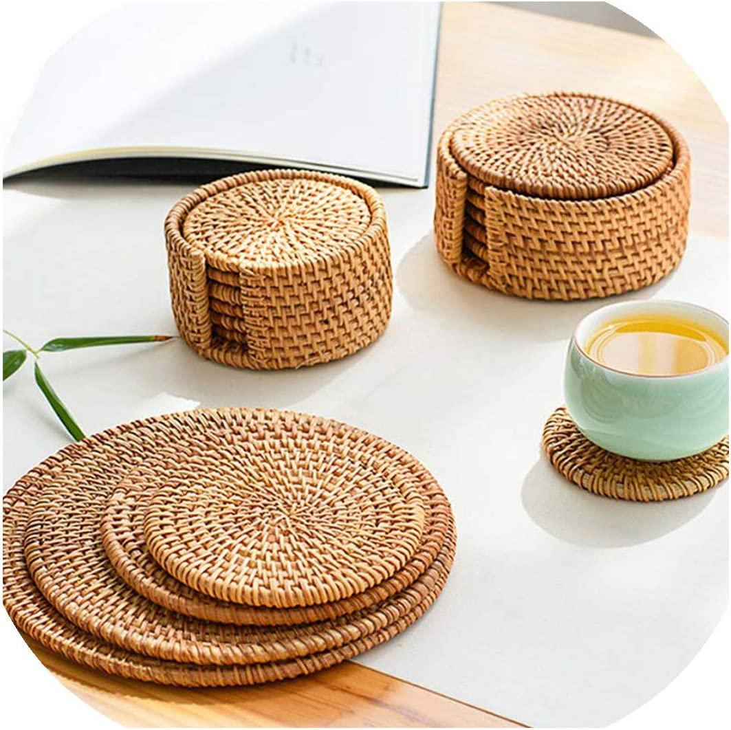 Set of 4 Woven Insulation Pad Home Dining Table Bowl Kitchen Placemats Place Mat