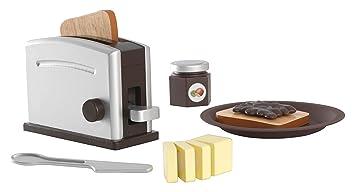 KidKraft 63373 Spielzeug-Toaster-Set aus Holz Espresso Zubehör für ...