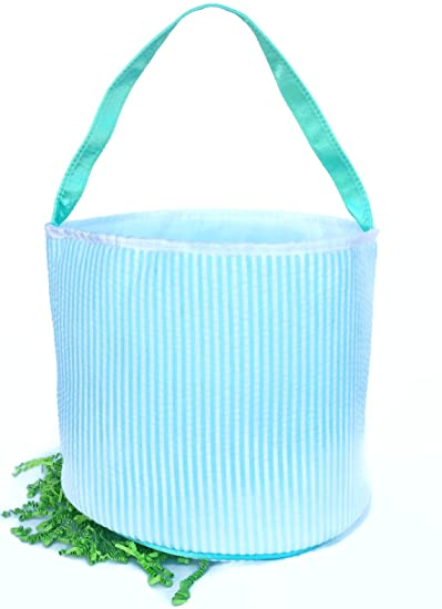 Toddler Easter Baskets (Green Aqua Stripe Not Personalized) Storage Baskets Pin Stripe Seersucker Kids  sc 1 st  Amazon.com & Amazon.com : Toddler Easter Baskets (Green Aqua Stripe Not ...