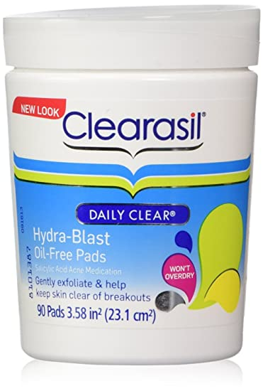 Clearasil Daily Clear Hydra-Blast Pads, 90 Pads (Pack of 2) Electric Auto Micro Needle Rechargeable DR.PEN Stamp Derma Pen + 36Pin Needles (5PCS)