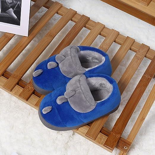 XING GUANG Outlets De Fábrica De Algodón para Niños Zapatillas De Algodón Inicio Zapatos Antideslizantes De Algodón Cálidos Algodón Dinosaurios De Arrastre,Blue: Amazon.es: Hogar