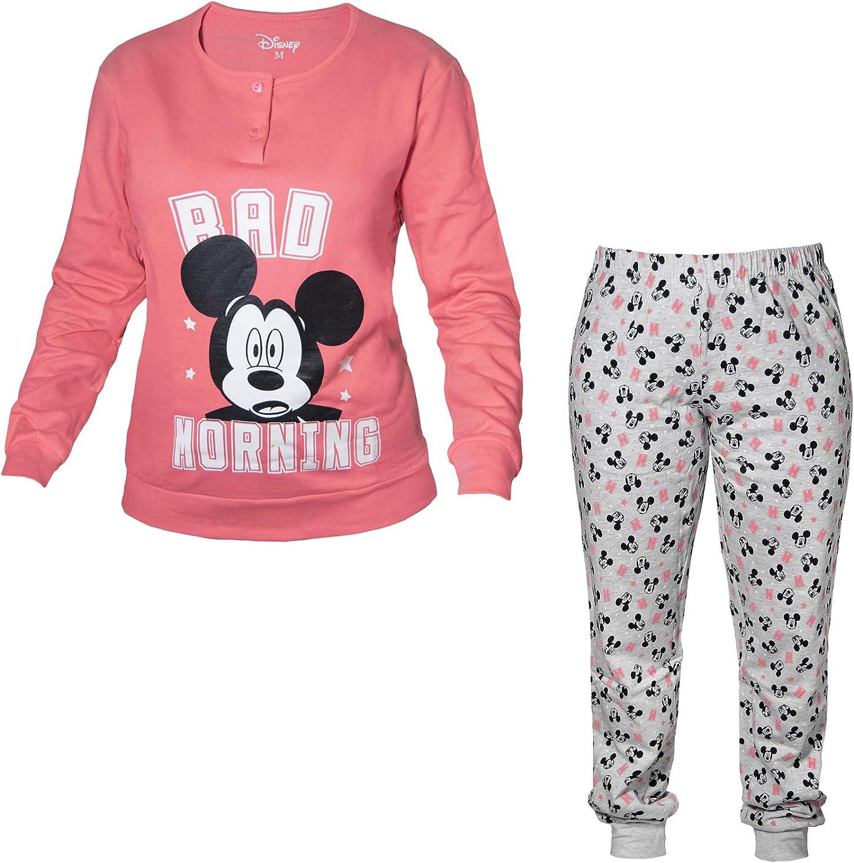 Disney Pijama de mujer largo de felpa Mickey Nueva colección Art. WD20611
