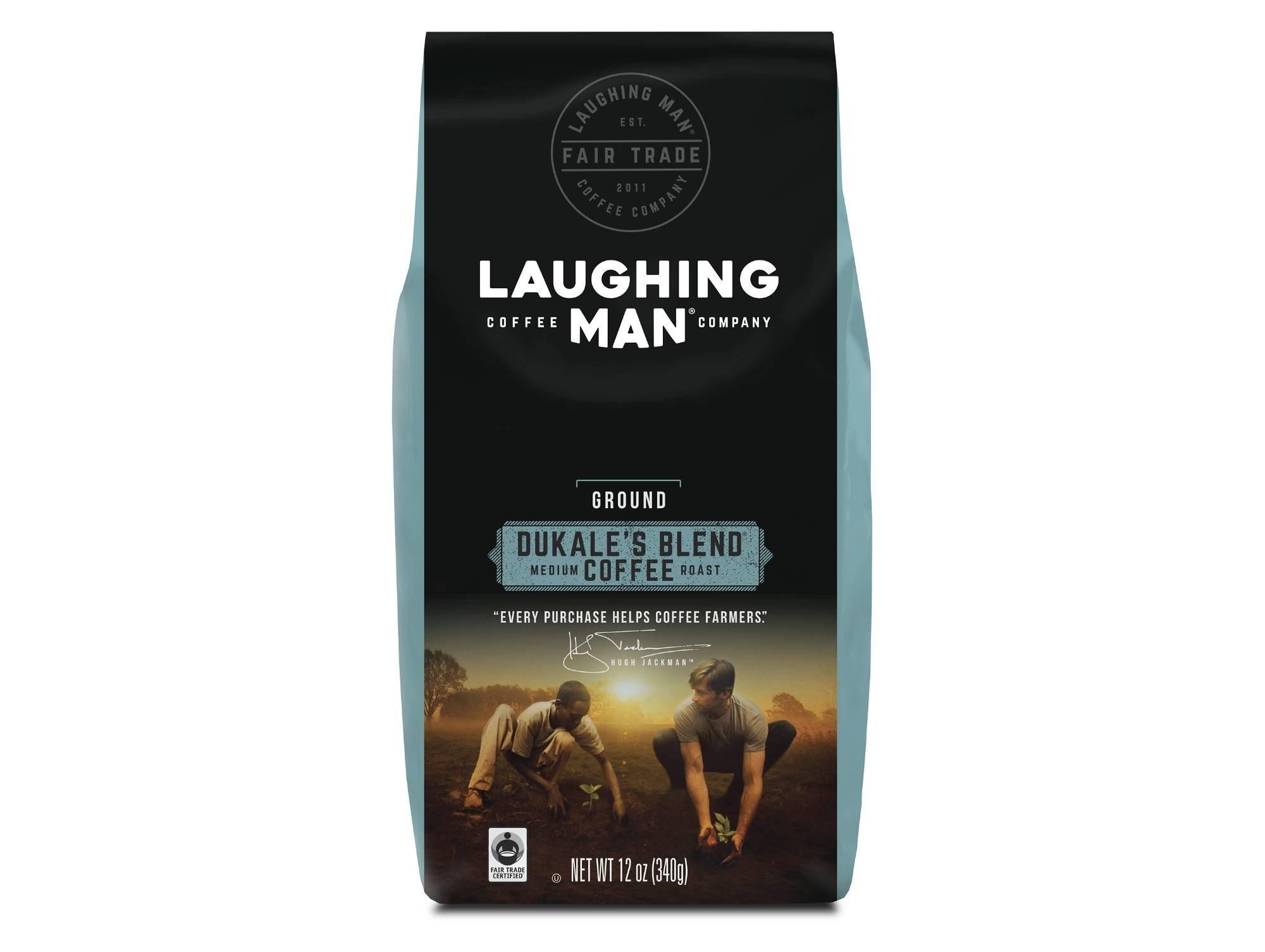 Laughing Man Dukale's Blend, Ground Coffee, Medium Roast, Bagged 12 oz