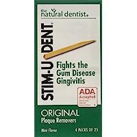 STIM-U-DENT Original Plaque Removers Mint -- 100 Toothpicks