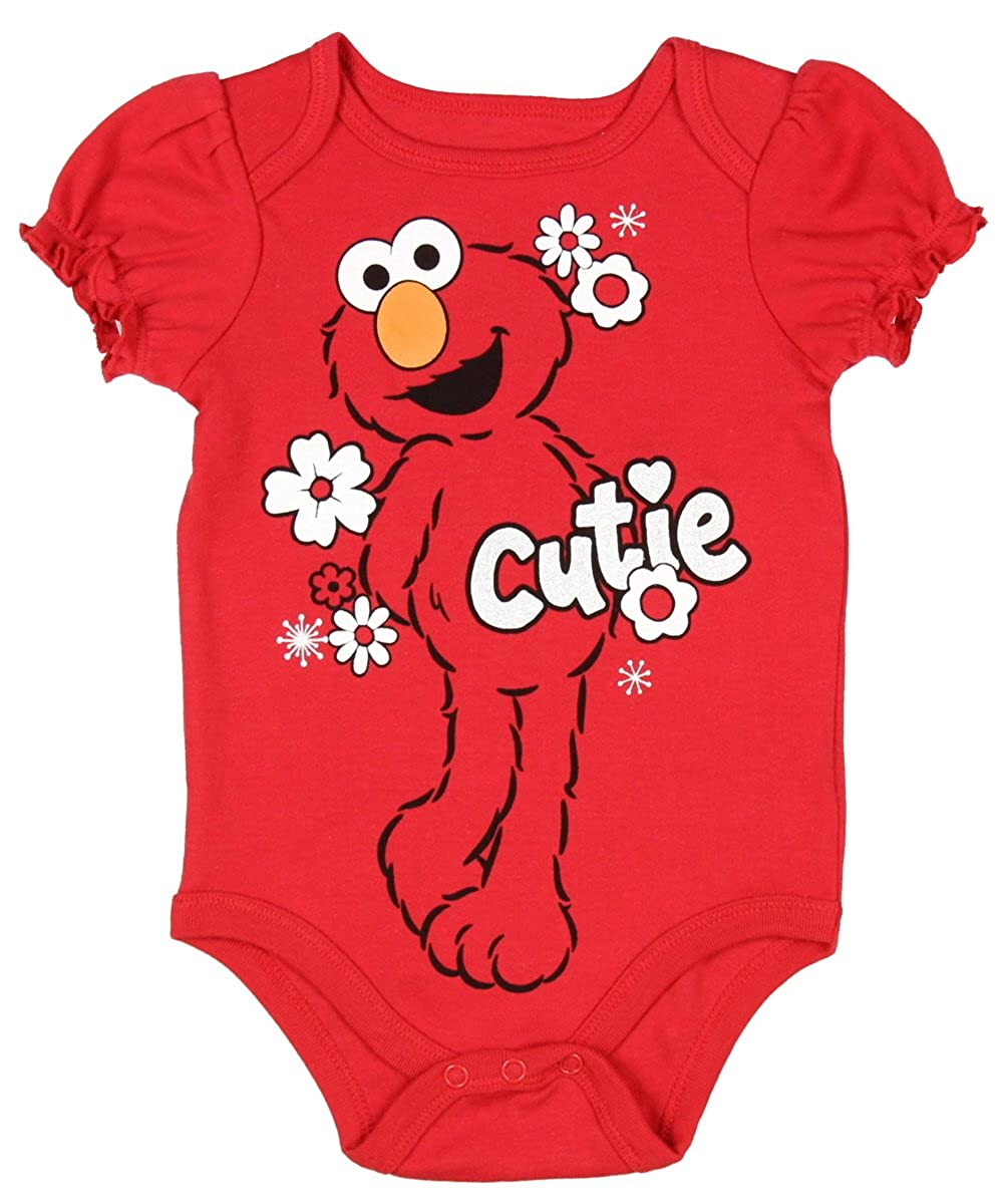 3cf8f1da He loves to be tickled and will always bring a smile to your young ones  face. These baby girls pajamas feature Elmo ...