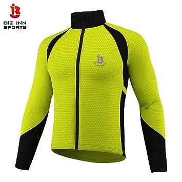 Chaqueta de manga larga para ciclismo, resistente al viento, aislamiento térmico, color rojo, azul y amarillo fluorescente, tallas de S a XXL