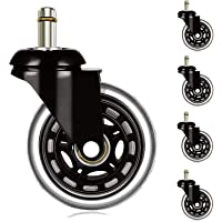 Office Chair Wheels for IKEA Chairs (Set of 5), IKEA Chair Casters 10mm Stem, Quiet & Smooth Rolling Desk Chair Casters…