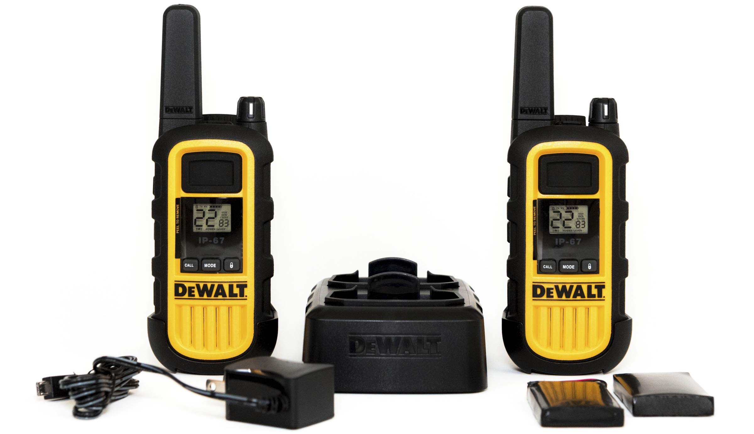 DeWALT DXFRS800 2W Walkie Talkies Heavy Duty Business Two-Way Radios (Pair) by DEWALT (Image #1)