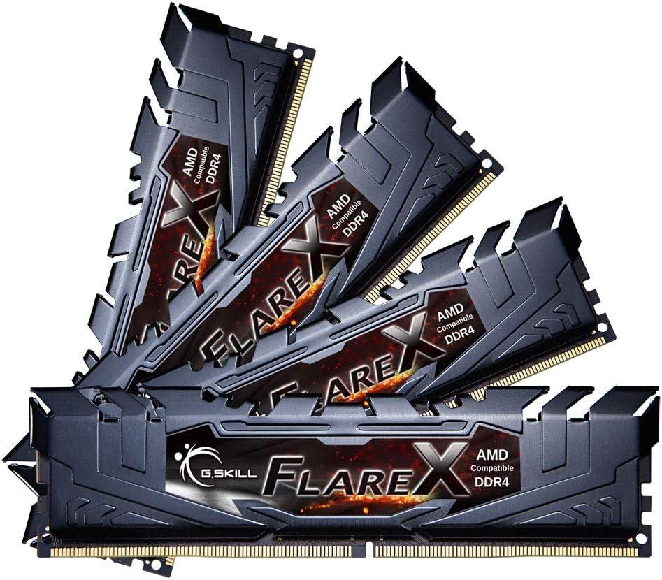 G.Skill F4-3200C16Q-64GFX Flare Memoria RAM de 64 GB DIMM, DDR4-3200