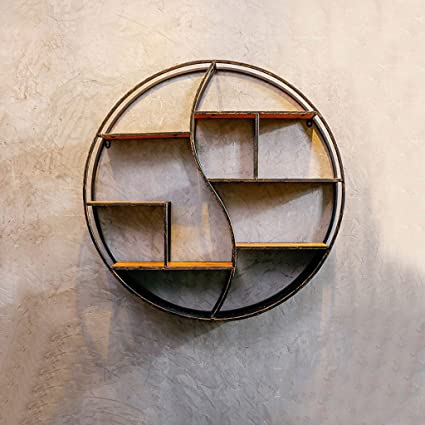 Jia He Estante Circular Creativo Estante de Pared Loft Industria Retro Arte de Hierro Pared de
