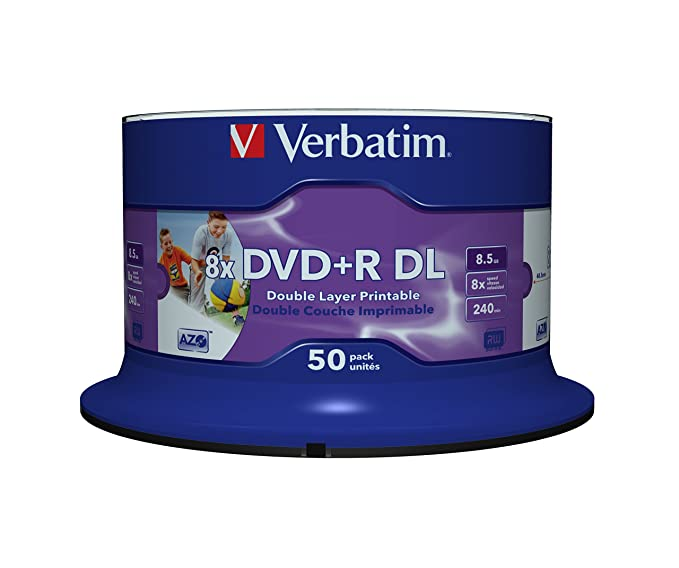 Verbatim DVD+R DOUBLE LAYER 8.5 GB PRINTABLE 50er: Amazon.de ...