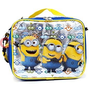 Blue Minions Despicable MeDespicable Me Lunch Bag with Shoulder Strap