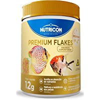 Premium Flakes 12gr Nutricon Para Todos Os Tipos de Peixe Adulto