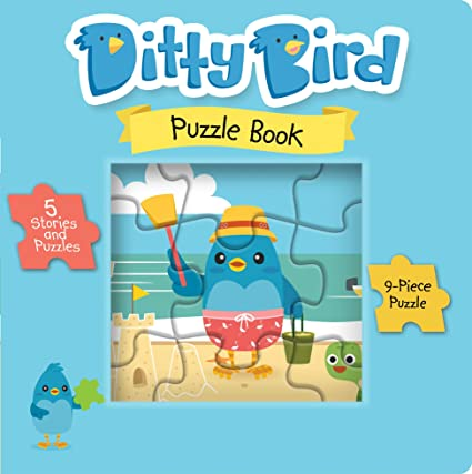 Ditty Bird Our Best Book with 5 Jigsaw Puzzles for Toddlers 3 Years   Learning and Educational Toddler Puzzles from 2 Years Old with Chunky  Pieces  3