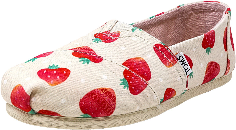 TOMS Women's Seasonal Classics Birch Strawberries and Cream 7 B US