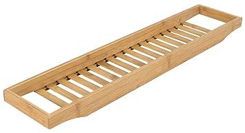 Porta Spugne Da Bagno : Elbmoebel portaoggetti per vasca da bagno in bambù con griglia