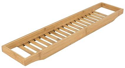 Porta Spugne Da Bagno : Elbmoebel portaoggetti per vasca da bagno in bambù con