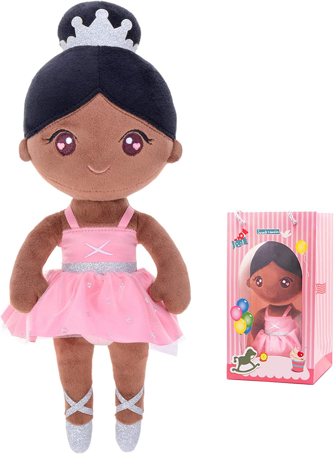 Conzy Stuffed Baby Doll Gifts for Girl Super Soft Buddy Cuddly Baby Girl Toy Gifts wtih Gift Bag 13 Inches in Standing (Ballet Girl)
