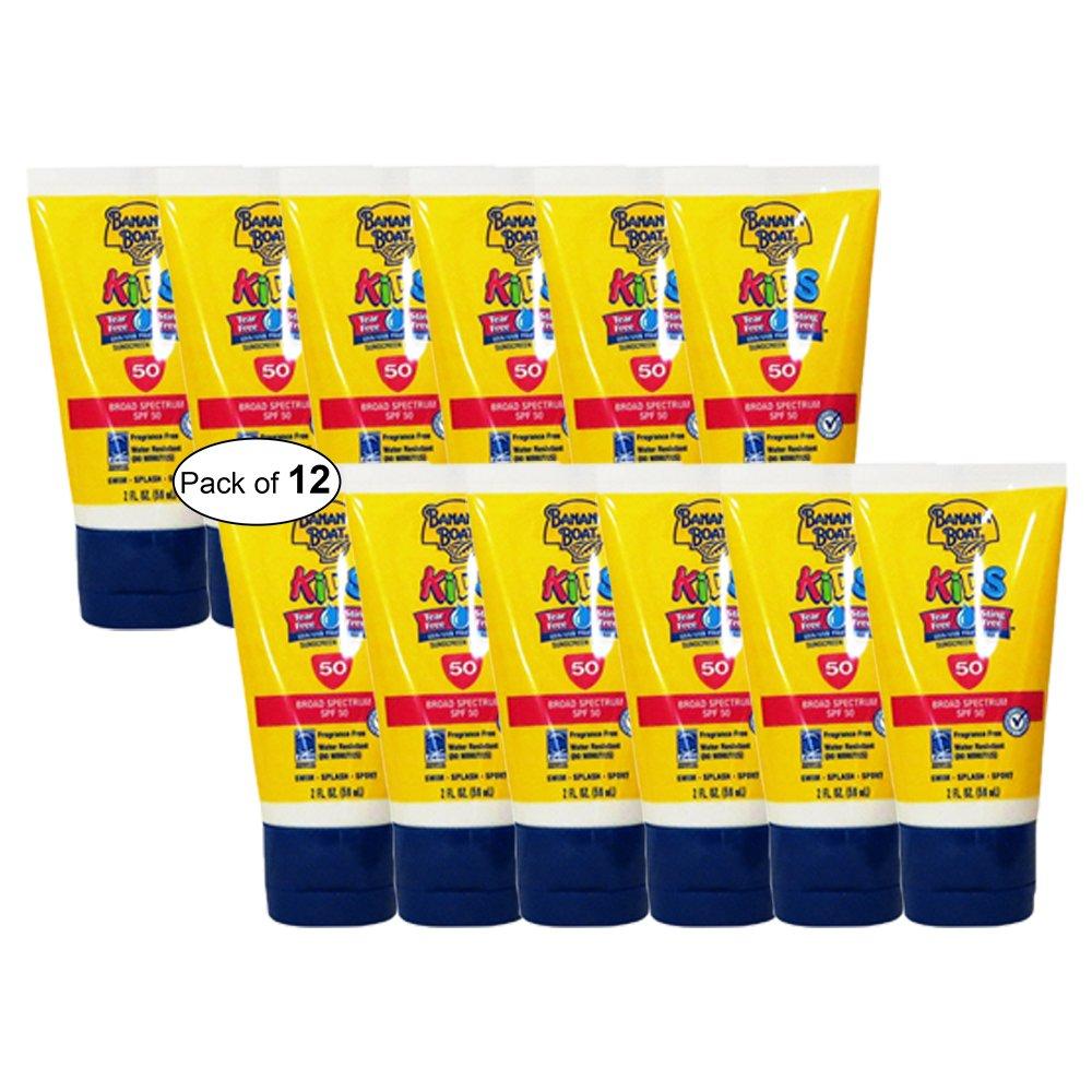 Banana Boat Kids Sunscreen Lotion 50 SPF (59ml) (Pack of 12)