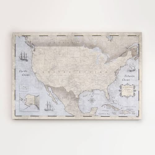 USA Travel Map Pin Board - Rustic Vintage - Made in Ohio, USA!