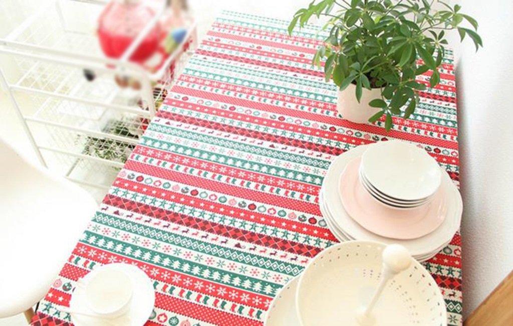Tablecloth.A ASL La Nuova tovaglia di Lino della tovaglia della tovaglia del tovagliolo della tovaglia del tovagliolo della Stoffa di Natale Selezionare (Dimensioni   140  230CM)