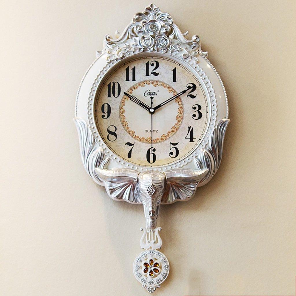 20インチヨーロッパのレトロスイングウォールクロックハイエンドのリビングルームの時計現代の静かなクォーツ時計 (色 : C) B07DLMG3XN C C