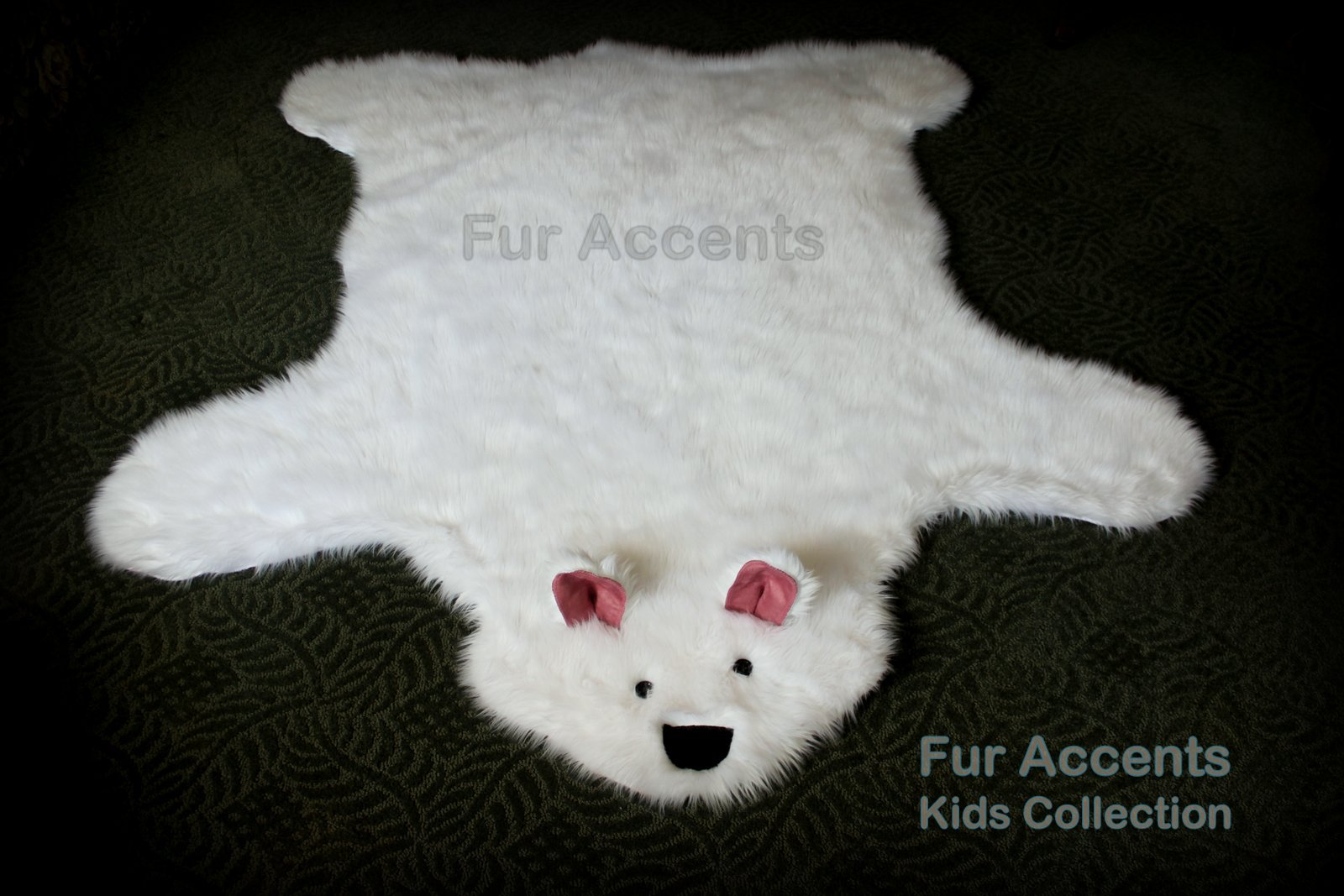 40''x60'' Teddy Bear Accent Rug / Shaggy Shag Baby Nursery Kids Area Rug / Off White Color / Rectangle / Soft Back / New