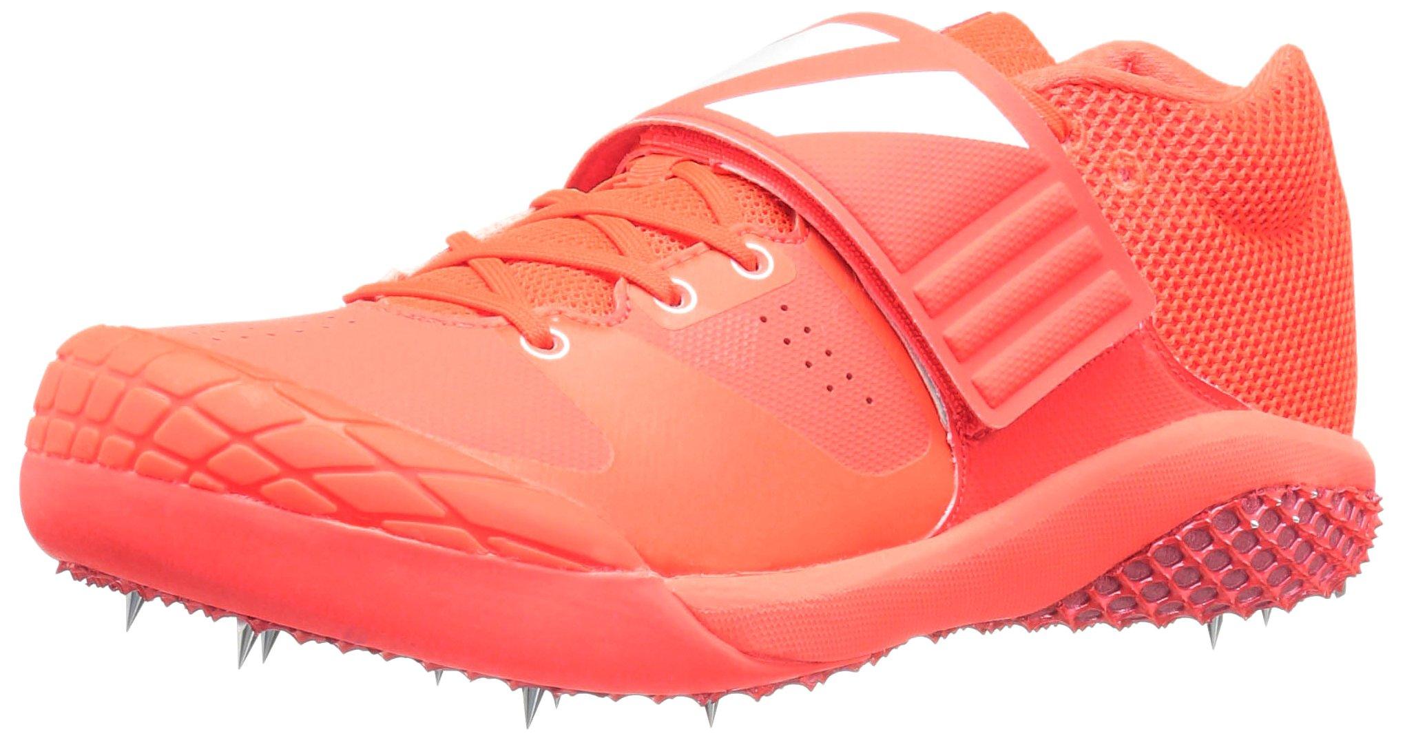 adidas Adizero Javelin Track Shoe, Solar Red/White/Metallic/Silver, 12.5 M US