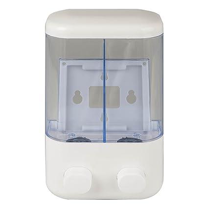Dispensador doble push & wash 2 x 500 ml blanco