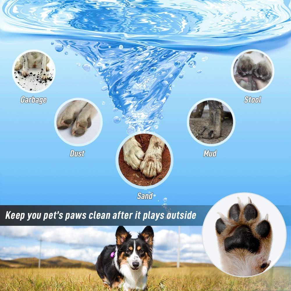 Limpiador de Huellas de Perro Limpiador de Patas para Perro Gato Cepillo para Perros-Limpia Patas Perro TOCYORIC Limpiador Patas Perro Mascota port/átil Limpiador
