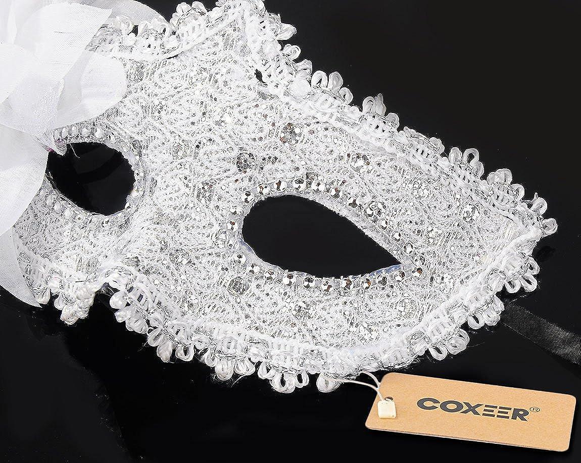 Amazon Coxeer Masquerade Mask For Women Mardi Gras Mask With