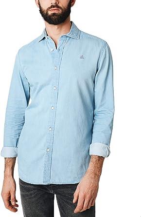 Scalpers Denim K Shirt - Camisa para Hombre: Amazon.es: Ropa y accesorios