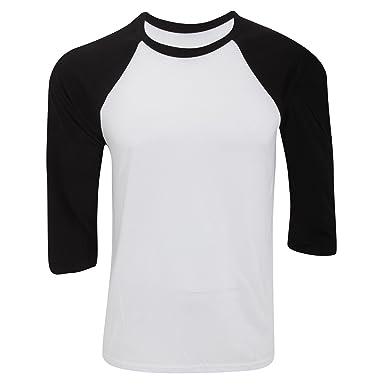 Modelo baseball//B/éisbol Camiseta con manga 3//4 para hombre Canvas