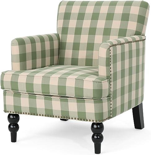 Eve Tufted Fabric Club Chair