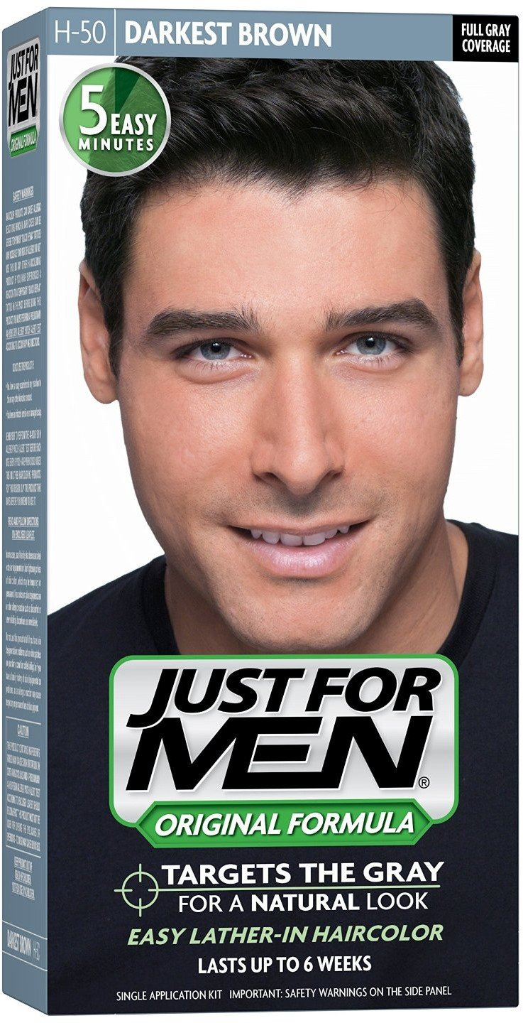 JUST FOR MEN Hair Color H-50 Darkest Brown 1 Each (Pack of 8)