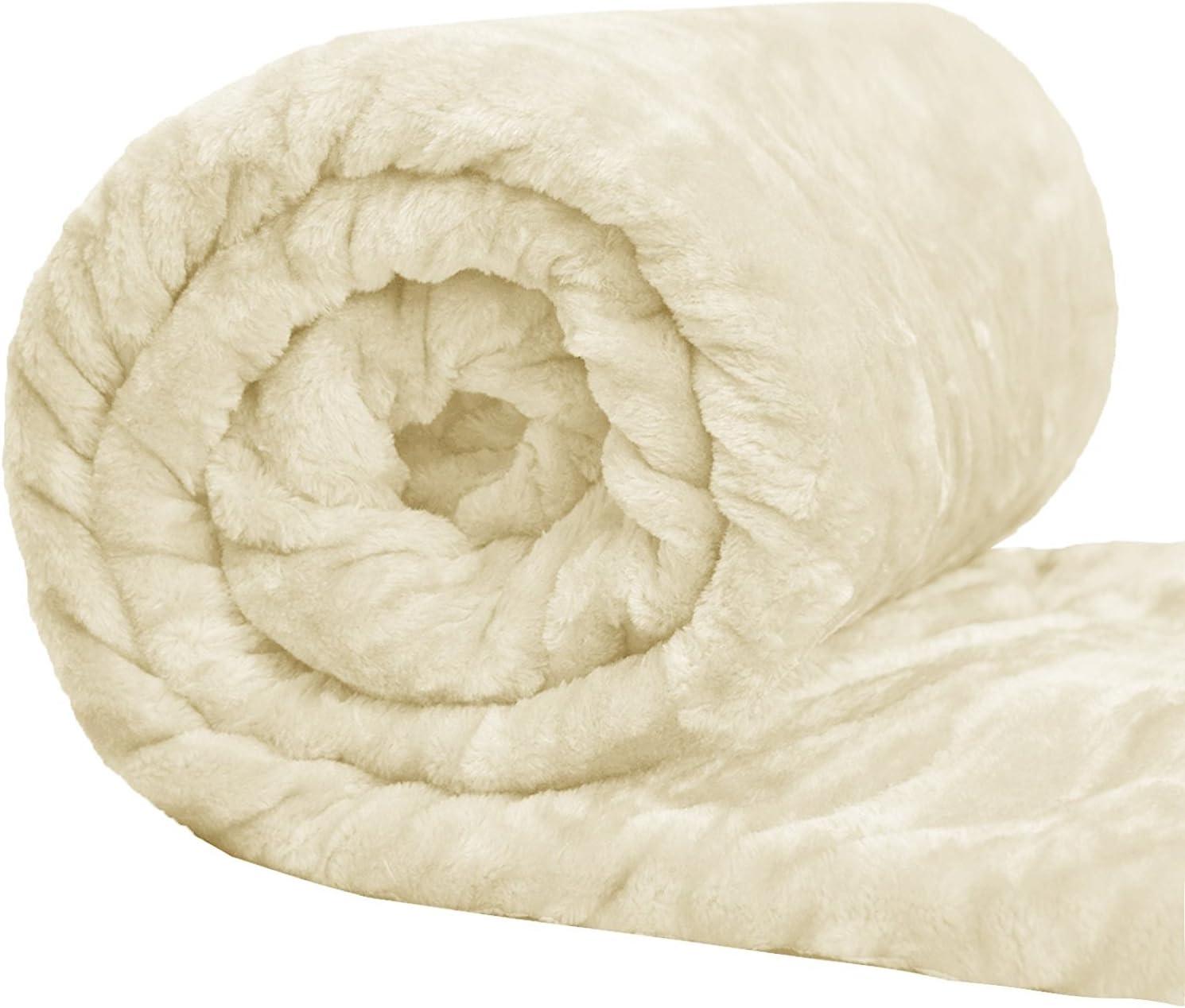 Bed Throw 200x240 X LARGE Teal Mink FUR Blanket Sofa