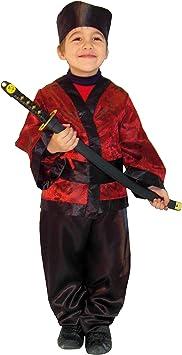EL CARNAVAL Disfraz Samurai niño Talla de 4 a 6 años: Amazon.es ...
