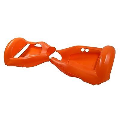 Cool&Fun 6,5 Housse/Coque De Protection En Silicone Pour Hoverboard Segway 2 Roues, Coque Anti-rayures Etanche Couverture Complète, Orange