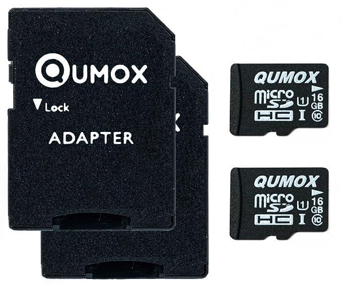 Amazon.com: QUMOX, 2 unidades Micro SD de 16 GB tarjeta de ...