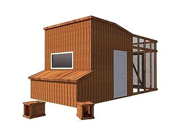 DIY Plans Construye tu Propia casa de Aves de Corral con caseta DE 20 x 25 cm: Amazon.es: Jardín