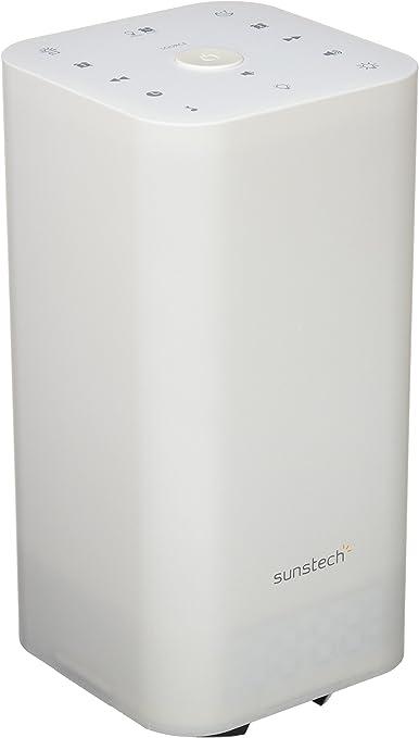 Sunstech FRLAMP2 - Radio Despertador con iluminación Gradual (USB, función Sleep, Entrada Auxiliar, Sonidos de Naturaleza), Color Multicolor