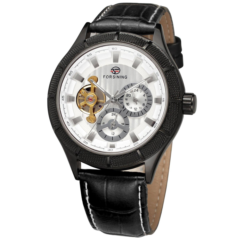 FORSINING自動自動巻きメンズクラシックレザーバンドアナログDial Mechanical Watch fsg566 m3b2 B014UQ0JXC