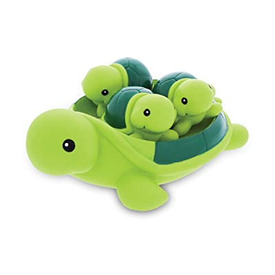 DolliBu Green Sea Turtle Family Animal Bath Squirters 4 Piece Bath Toy Set, Kids Bath Toys for Bathtime. Pool, Sand & Water Fun, Girls & Boys Floating Rubber Squirt Toys, Pool Toys for Children: Toys & Games [5Bkhe1404463]