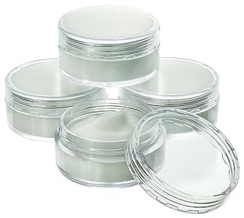 Amazoncom Estilo Estilo Clear Plastic Jars Cosmetic Containers