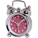 Hama analoger Wecker Nostalgie (mini Glockenwecker mit lautem Alarm) pink