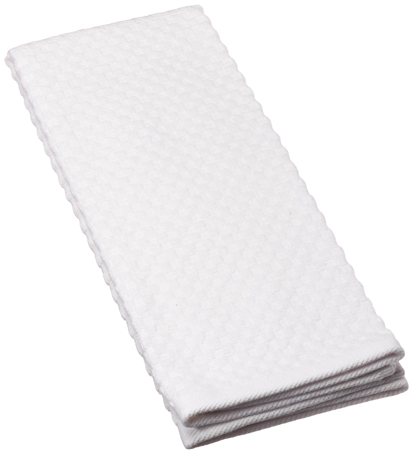 White Kitchen Towel: 8 Pack White EuroCafe Waffle Weave Terry