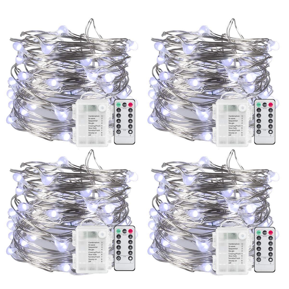 Amazon.com : Sanniu String Lights, 4 Packs Fairy String Lights ...