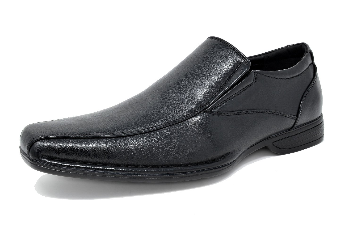 Bruno Marc Men's Giorgio-1 Black Leather Lined Dress Loafers Shoes - 11 M US