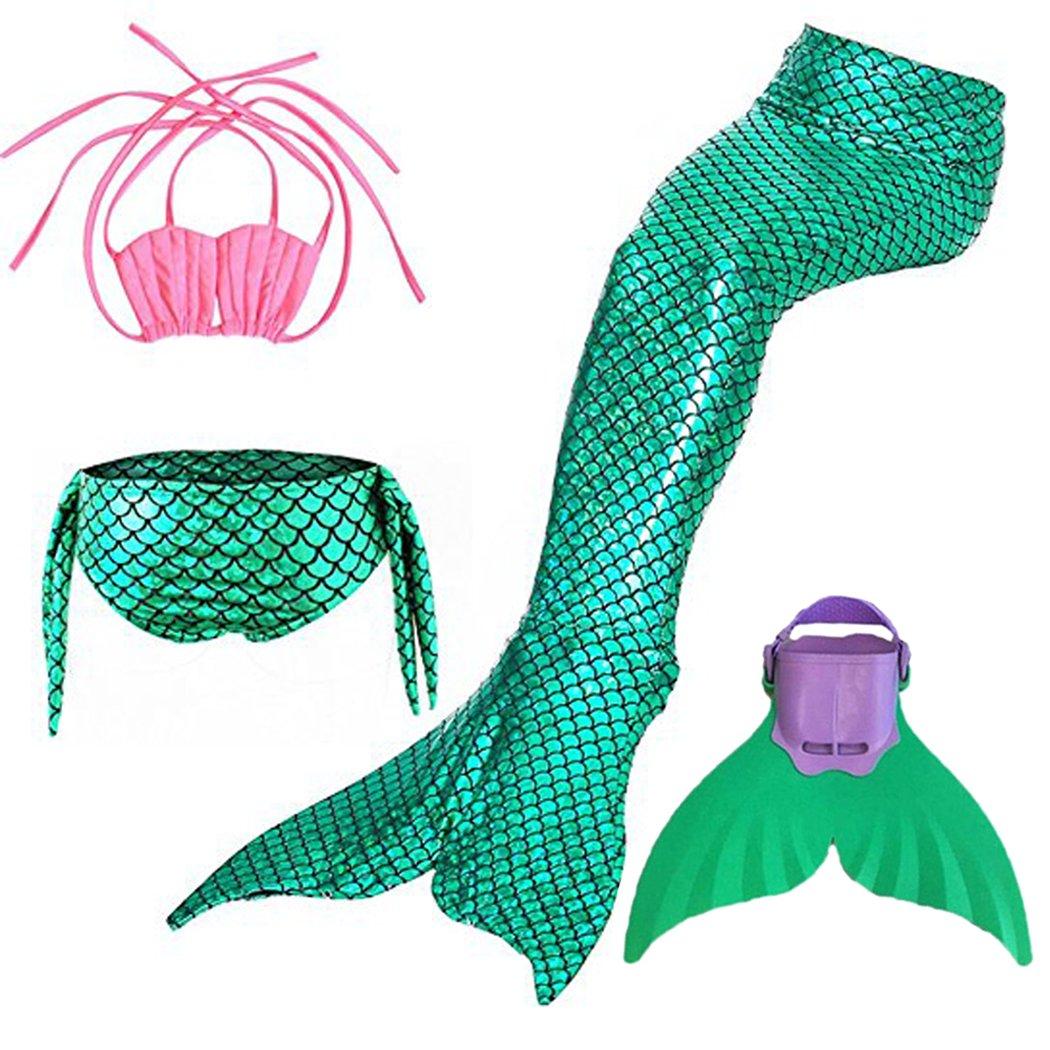 SPEEDEVE M/ädchen Meerjungfrauenschwanz mit Meerjungfrau Flosse Schwimmen Kost/üm Badebekleidung Meerjungfrau Badeanzug